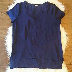 Soprano Blue High Low Blouse Medium